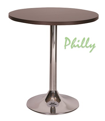 PHILLY Trumpet Base Cafe Table with Square or Round MFC Top | Cafe | CT1