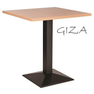 GIZA Pyramid Base Cafe Table with Square or Round MFC Top | Cafe | CT2S