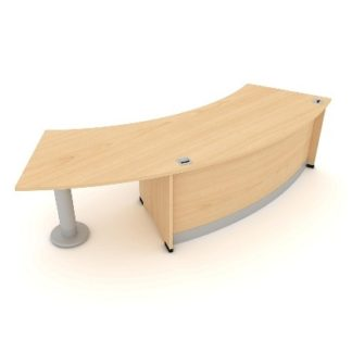 Radius Reception Desk. 1900mm Wide. MFC Finish | Desks | ERRRH
