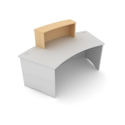 Radius Reception Desk. Single Counter Top 980mm Wide. MFC Finish. | Desks | ESCT