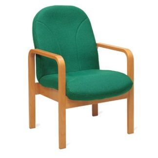 Wooden Easy Lounge Reception Chair with Arms | Reception and Lounge Seating | EW1A