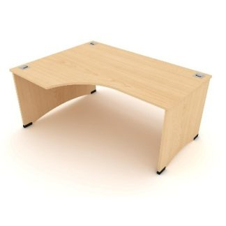 Panel Crescent shaped Desk/Workstation with return | Desks | EWDC