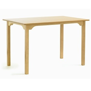 SUPPER Dining Table with Curved Rails - 1220x760mm Rectangular | Dining Tables | SHDTR12