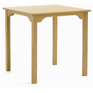SUPPER Dining Table with Curved Rails - 915x915mm Square | Dining Tables | SHDTS9